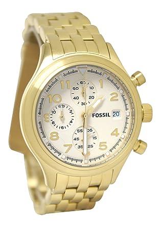 Amazon.com: Fossil Brújula ACERO INOXIDABLE Reloj Gold-tone ...