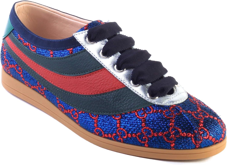 Falacer Lurex GG Sneaker Web Shoes Blue