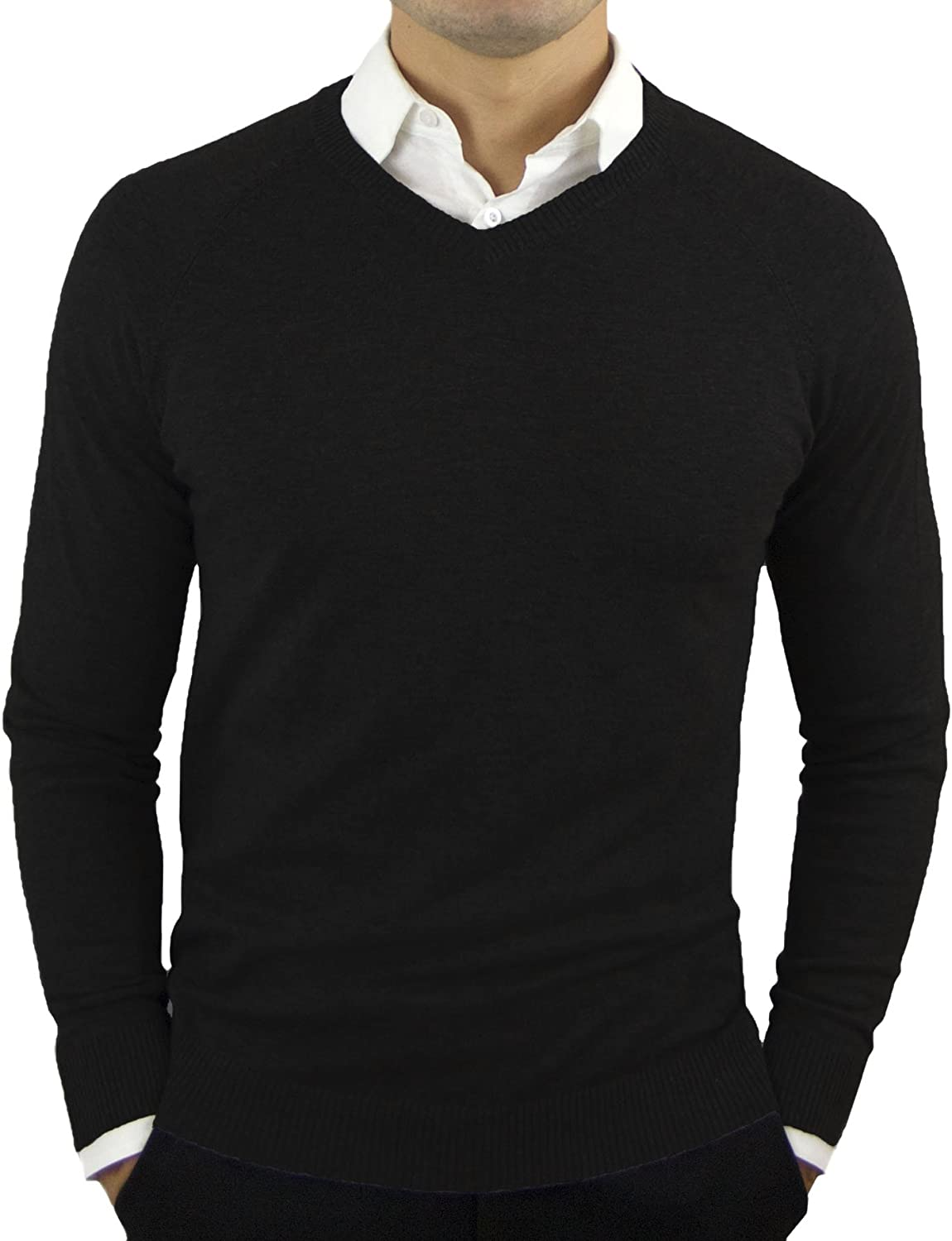 CC Perfect Slim Fit V Neck Sweaters for Men | Lightweight Breathable Mens  Sweater | Soft Fitted V-Neck Pullover for Men at Amazon Men's Clothing store