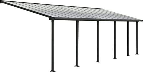 Palram HG8828 Olympia Patio Cover, 10 x 28