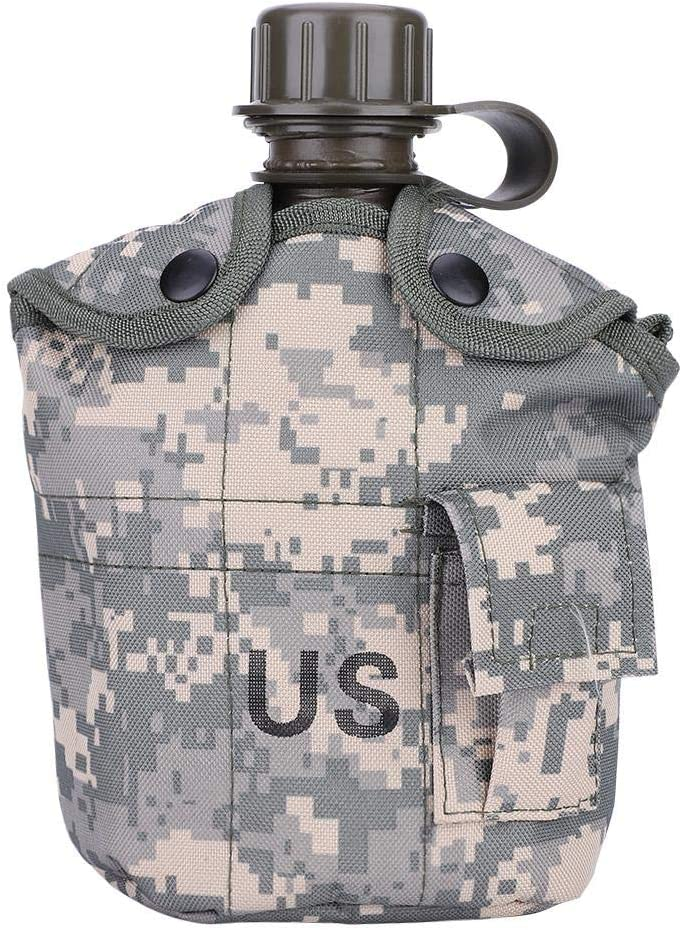 Aluminum Cup Military Water Canteen Bottle with Puoch Set Army Camping Hiking