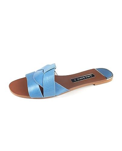fb1ae653a72b Zara Women Leather Crossover Sandals 2640 301 (35 EU