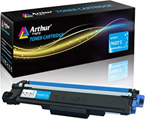 Arthur Imaging with CHIP Compatible Toner Cartridge Replacement for Brother Tn227(Cyan, 1 Pack), TN227C