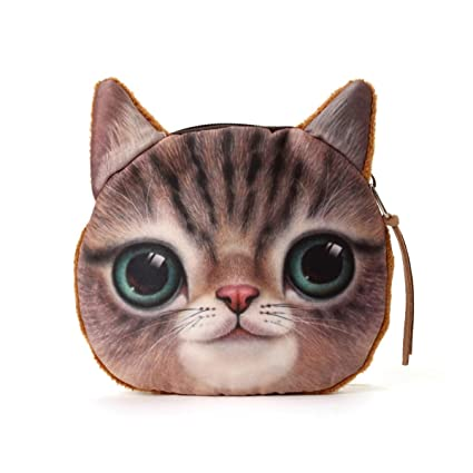 Amazon.com: iPlanner Set of 5 Cute Lifelike 3D Cat Face Bag ...