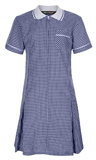 Miss Chief Girls School Uniform Pleated Gingham Summer Dress Hair Bobble Age 3 4 5 6 7 8 9 10 11 12 13 14 15 16 17 18 20