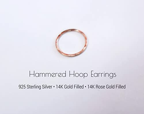 Amazon Com 22 Gauge Hammered Texture Nose Ring Tiny Hoop Earring