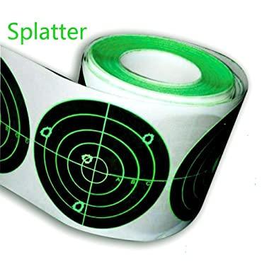Splatter Target Stickers (Qty 250pcs 3 ) Adhesive Splatter Target - Instantly See Your Shots Burst Upon Impact!