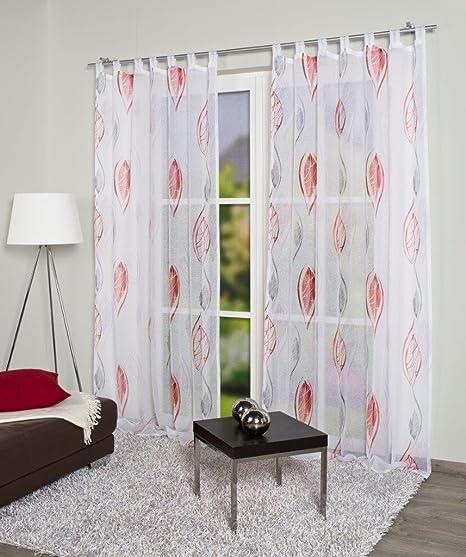 Home Fashion 049423   Schlaufenschal SABIA   transparenter Voile   245x140 cm   Farbe: rot