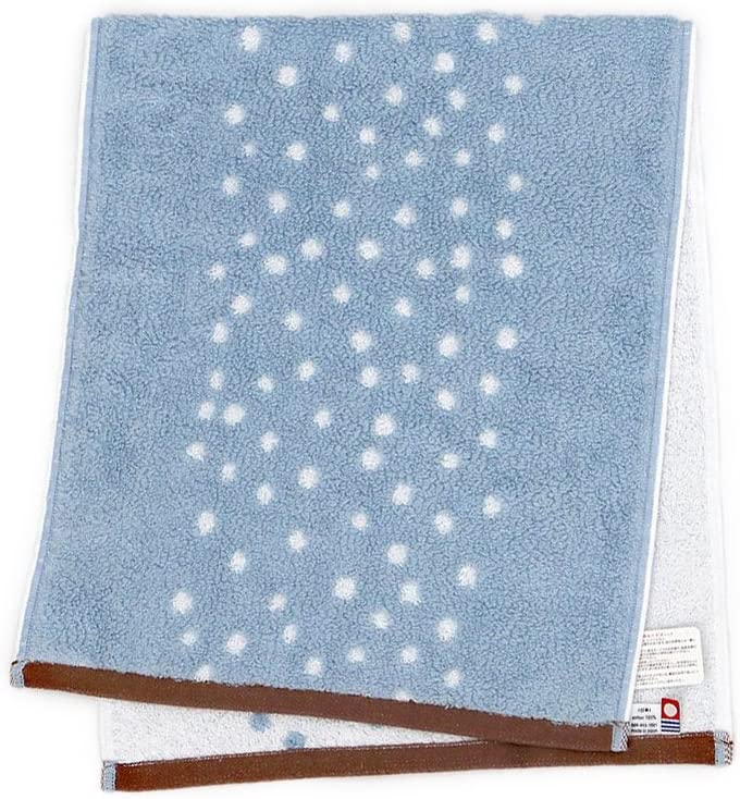 Iori Amanogawa Lightblue Face Towel imabari towel Japan Milky Way