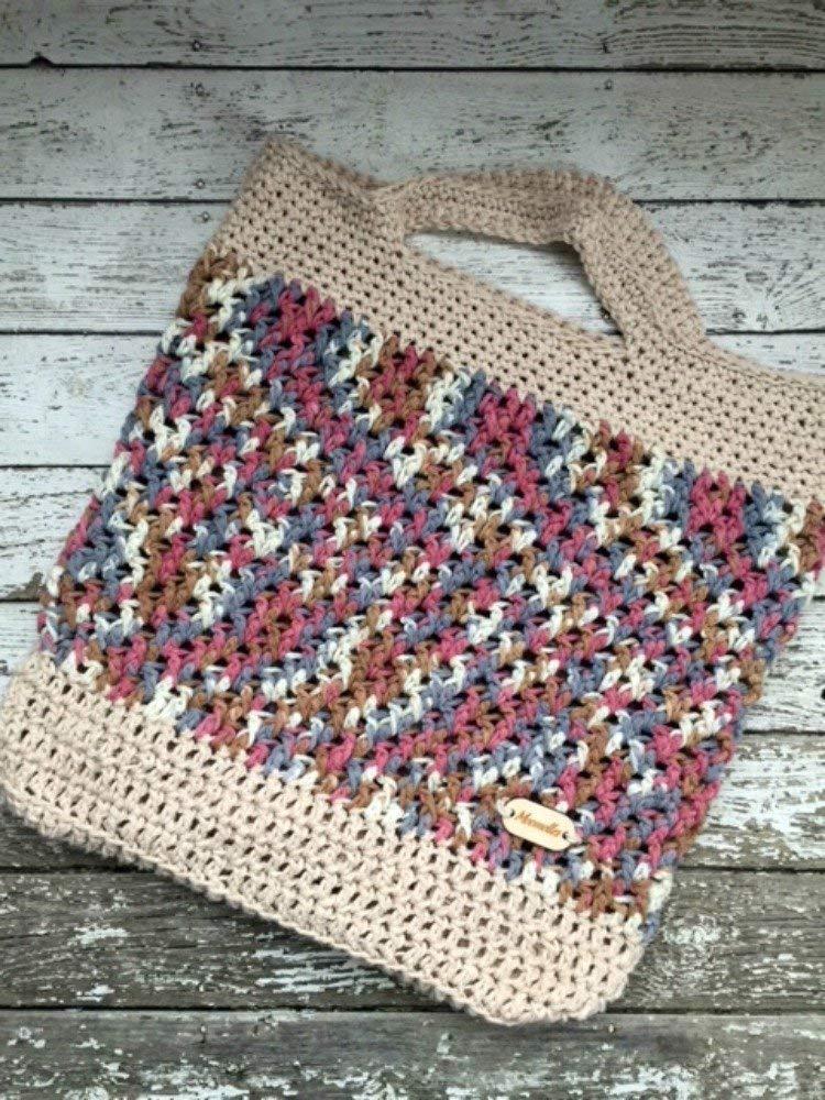Amazoncom Handmade Market Bag Cotton Produce Bag Beige Rose