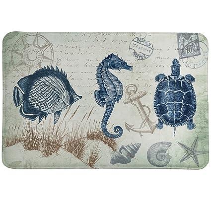 Decoration Carte Postale.Amazon Com Bella Coastal Decor Carte Postale Memory Foam