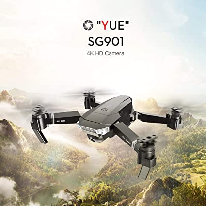 Zinniaya SG901 Drone plegable 4K / 1080P HD Cámara dual Sígueme RC ...