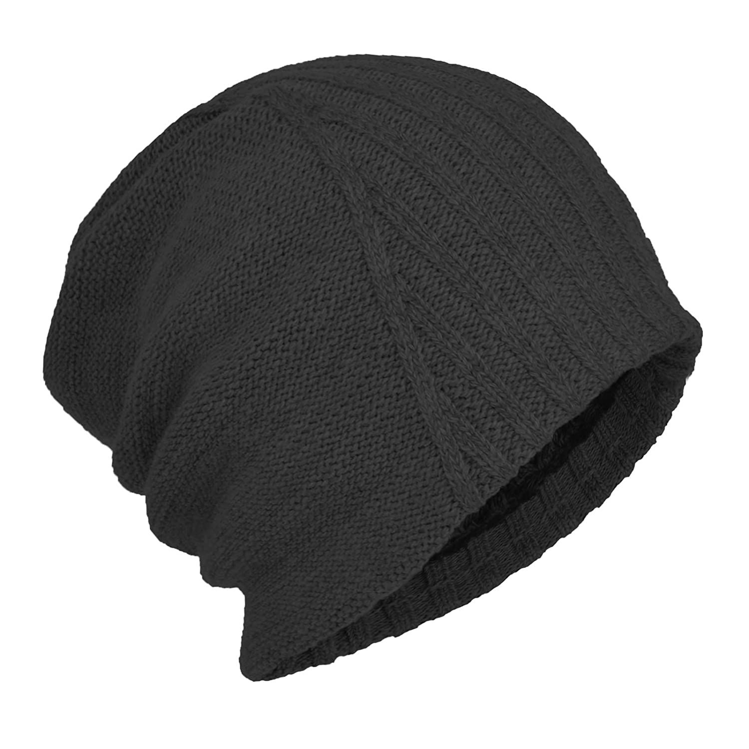 Janey Rubbins Winter Oversized Slouchy Style Beanie Fleece Lined Stocking  Skull Cap Knit Ski Hat (Black) at Amazon Men s Clothing store  01a51f601df1