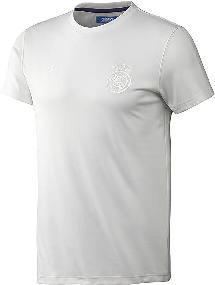 adidas Originals Men's Real Madrid Retro T Shirt, White, XS