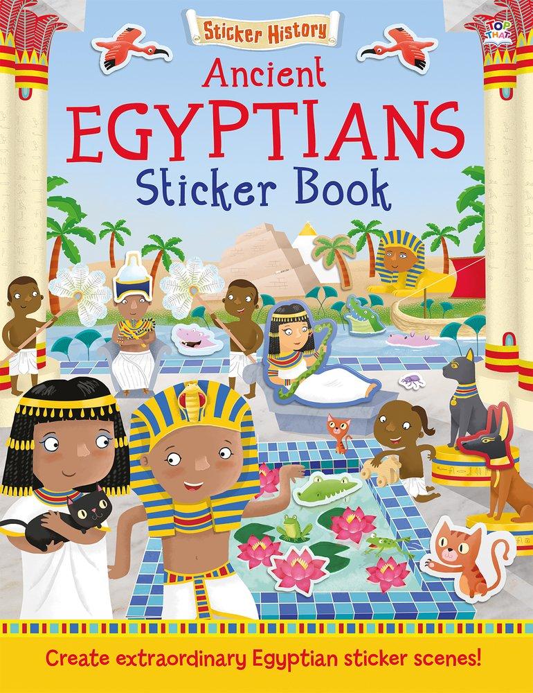 Read Online Ancient Egyptians Sticker Book: Create extraordinary Egyptian sticker scenes! (Sticker History) PDF