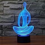 LED 3D Lamp, S7 SEVEN 3D Optical Illusion Desk Lamp 7 Color Change USB Touch Switch Desk Night Light 3D Table Lamp for Kids R