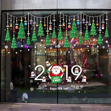 Foho Fensterbilder für Weihnachten, Weihnachtssticker Weihnachtsbaum ...
