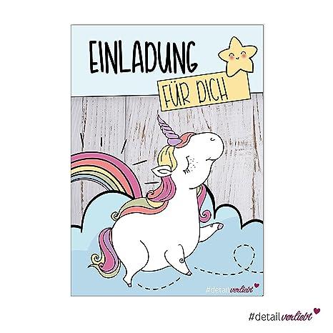 15 tarjetas de invitación Unicornio | DV _ 220 | DIN A6 | nö ...