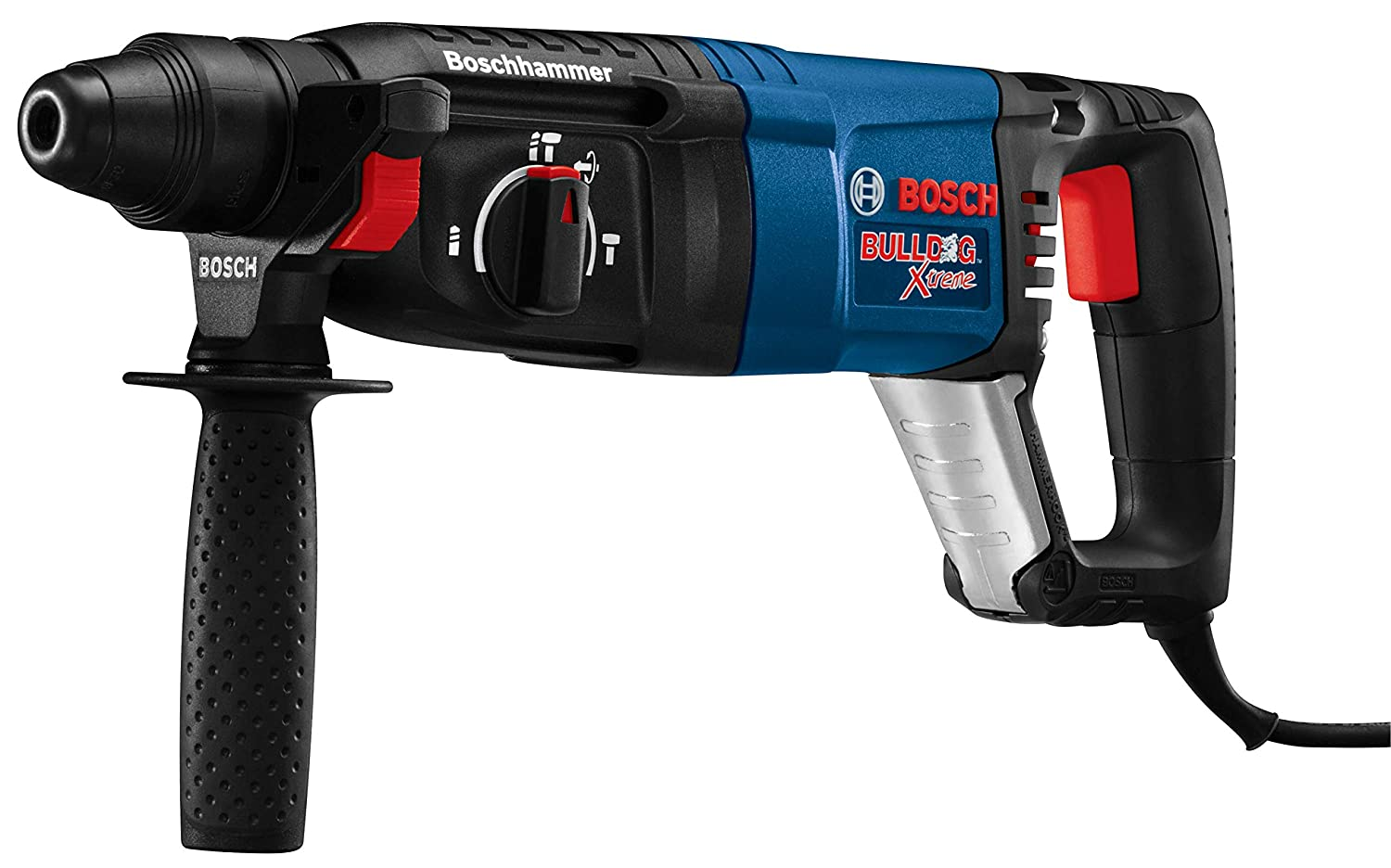 Bosch 11255VSR Bulldog Xtreme – 8 Amp 1 in. Corded Variable Speed Sds-Plus Concrete Masonry Rotary Hammer Power Drill with Carrying Case