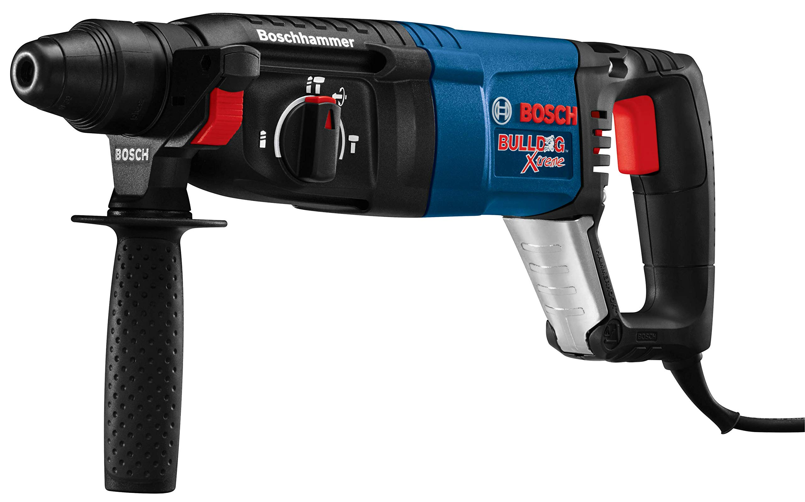 Bosch 11255VSR Bulldog Xtreme - 8 Amp 1 in. Corded Variable Speed Sds-Plus Concrete/Masonry Rotary Hammer Power Drill with Carrying Case by Bosch