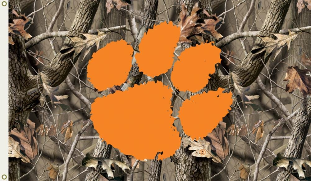 NCAA Clemson Tigers Camo Flag withグロメット60 x 36 in   B00CLW6X92, SPACCIO a6b33778
