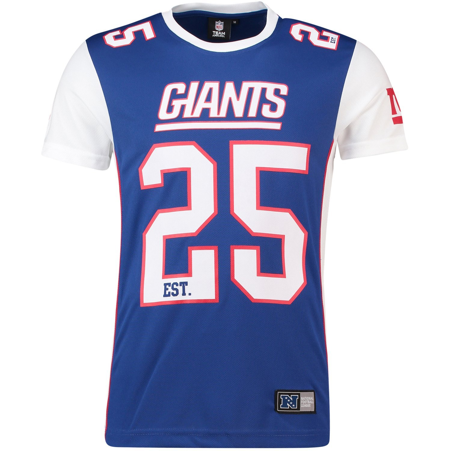 Majestic New York Giants T-Shirt/Tee - Poly Mesh - NFL 2019 - Royal MNG4655ZH