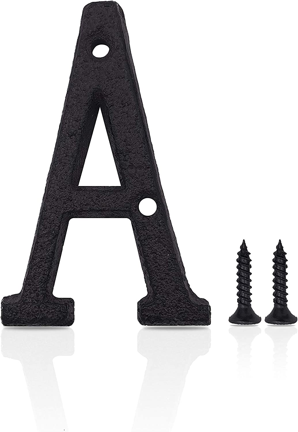 Modern House Numbers, Wrought Iron Home Address/Mailbox Number, DIY Hardwares, 3 Inches High(Letter A)