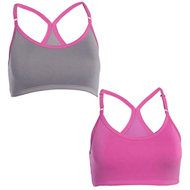 2904a121ca Fruit of the Loom Breathable Sport Bra Racer Back 2 Pack at Amazon ...