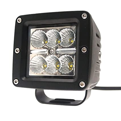 Square Shape 12-24v LED Work Light Flood Lamp Driving Light 4x4 Utv Sand Rail