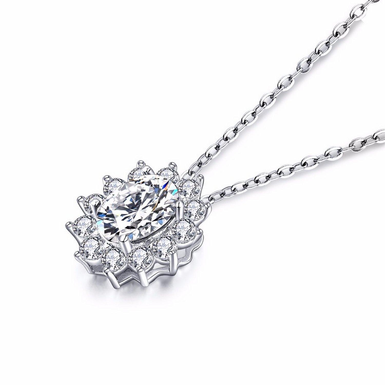 MMC Womens Necklaces Pendants Classic Topaz Silver Jewelry