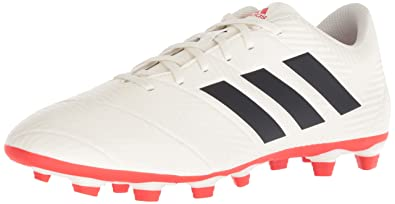 timeless design 81991 85937 adidas Men s Nemeziz 18.4 Firm Ground, Off Off White Black Active red,