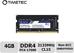 Timetec Hynix IC 4GB DDR4 2133MHz PC4-17000 Non ECC Unbuffered 1.2V CL15 1Rx8 Single Rank 260 Pin SODIMM Laptop Notebook Computer Memory Ram Module Upgrade (4GB)