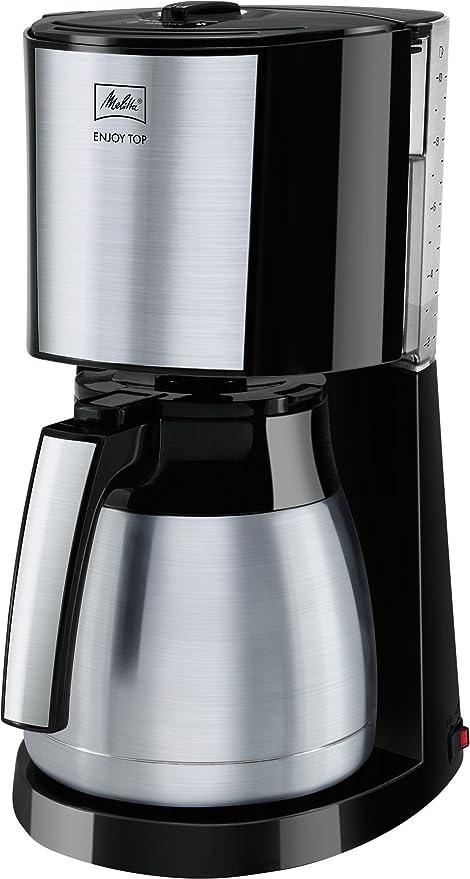 Melitta Cafetera de filtro con jarra isotérmica de acero inoxidable, Selector de aroma, Enjoy Top Therm, Negro/Acero inoxidable mate, 1017-08: Amazon.es: Hogar