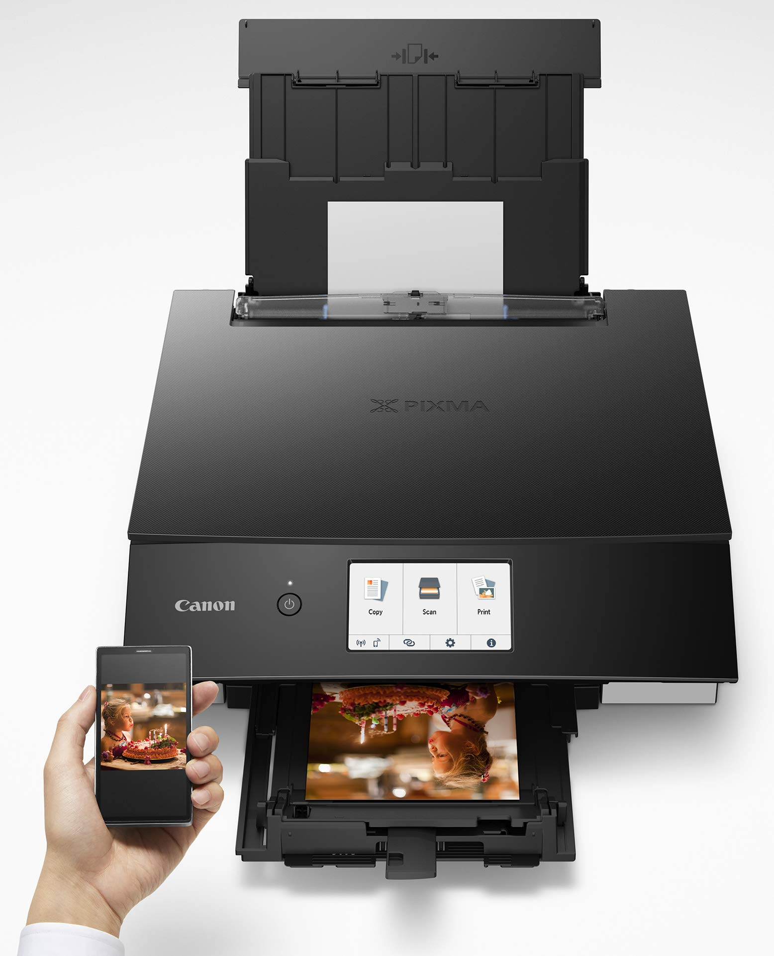 Canon TS8220 Wireless All in One Photo Printer with Scannier and Copier, Mobile Printing, Black by Canon (Image #6)