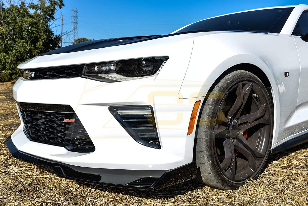 ABS Plastic - Primer Black ZL1 1LE Style Front Bumper Lower Lip Splitter Extreme Online Store Replacement For 2016-2018 Chevrolet Camaro SS Models