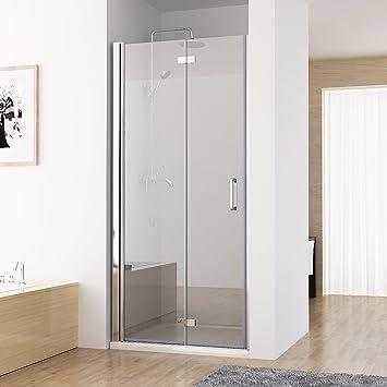 Nischentur Duschabtrennung 180 Schwingtur Falttur Duschwand Dusche
