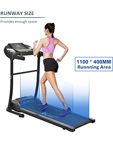 ULTRAPOWER SPORTS Motorised Electric Treadmill Folding Running Machine, 12 Auto programs, Heart Rate Monitor, Bluetooth APP Control and Speakers