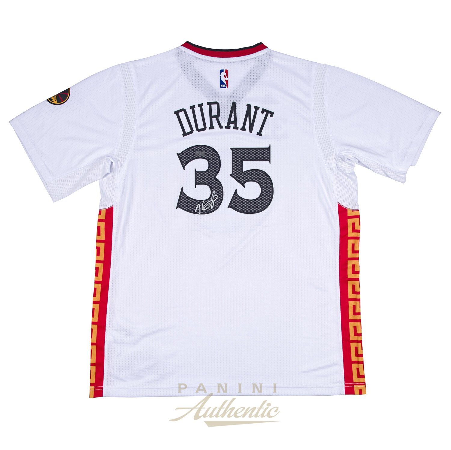 208a2c9dad4 Kevin Durant Autographed Golden State Warriors Chinese New Year Swingman  Jersey ~ Open Edition Item ~ at Amazon s Sports Collectibles Store
