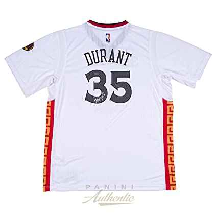 Kevin Durant Autographed Golden State Warriors Chinese New Year ... 908d34b955ef