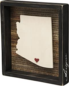 "Primitives by Kathy Arizona Wanderlust Box Sign, 9.75"" x 10.5"""