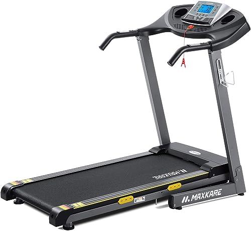 Electric Folding Treadmill Auto Incline Running Machine 2.5 HP Power 8.5 MHP Speed 12-Level Adjustment