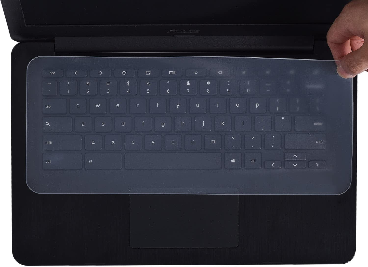 """Universal Silicone Keyboard Protector Cover Skin for Laptop Notebook 13.3"""" 14"""" inch (Size:318MM136MM)"""