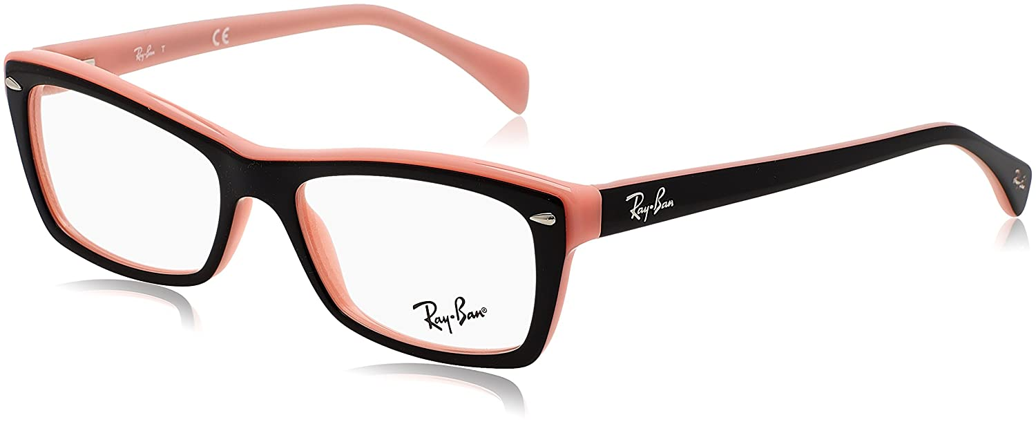 Ray-Ban Rx5255 (51) Monturas de gafas, Top Black on Pink, Mujer ...