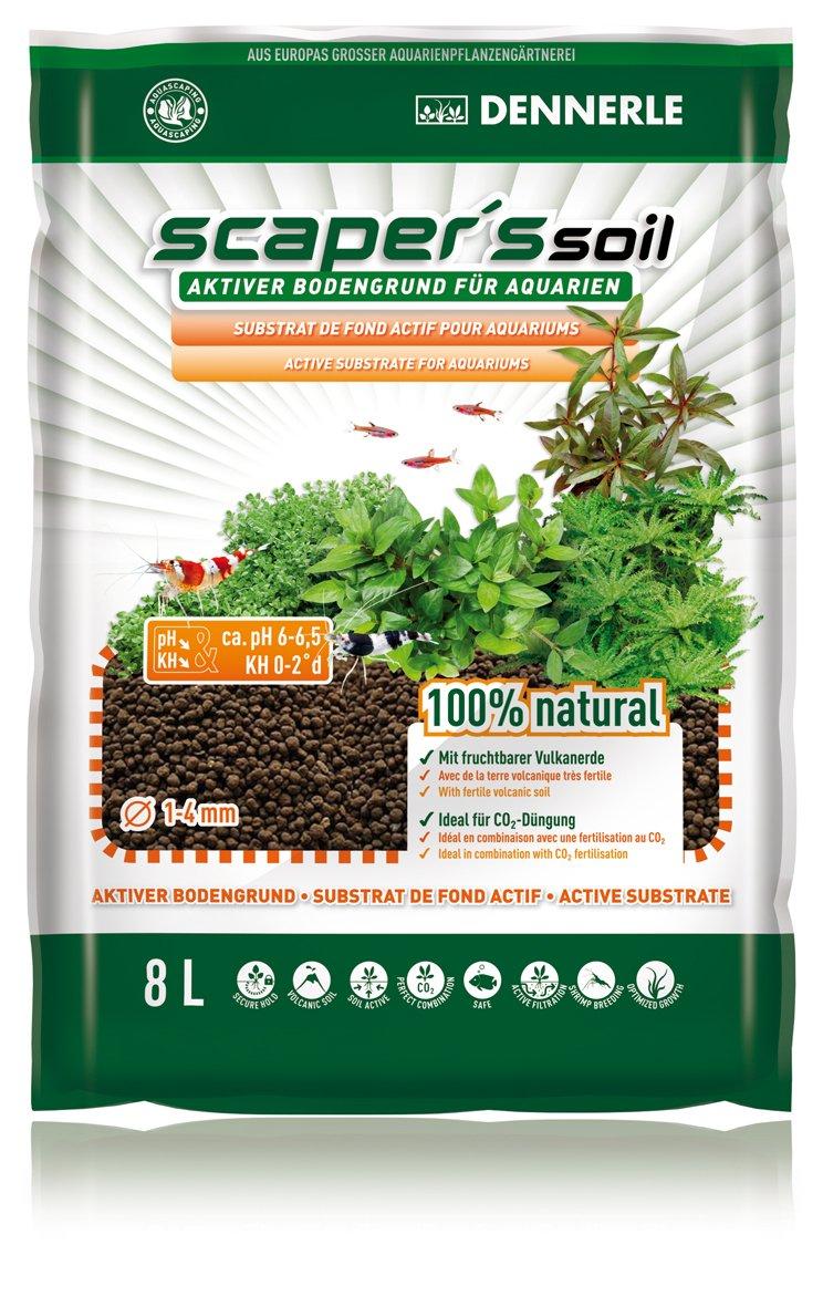 Dennerle Soil Black Color Type 1-4mm, 8 L - 7,35 kg 4581