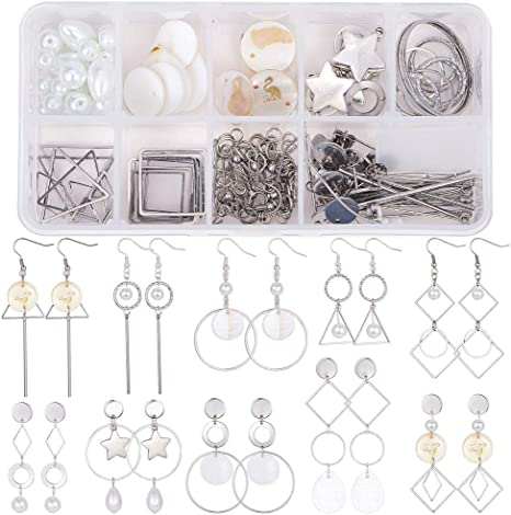 Tree of Life Necklace 33 Pieces DIY Stainless Steel Necklace Kit Present for Her Jewelry Craft Kit Hypoallergenic Necklace Making Kit