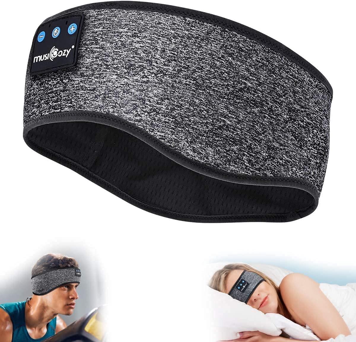 MUSICOZY Sleep Headphones Headband Wireless Music Sleeping Headphones Noise Cancelling Sleep Mask