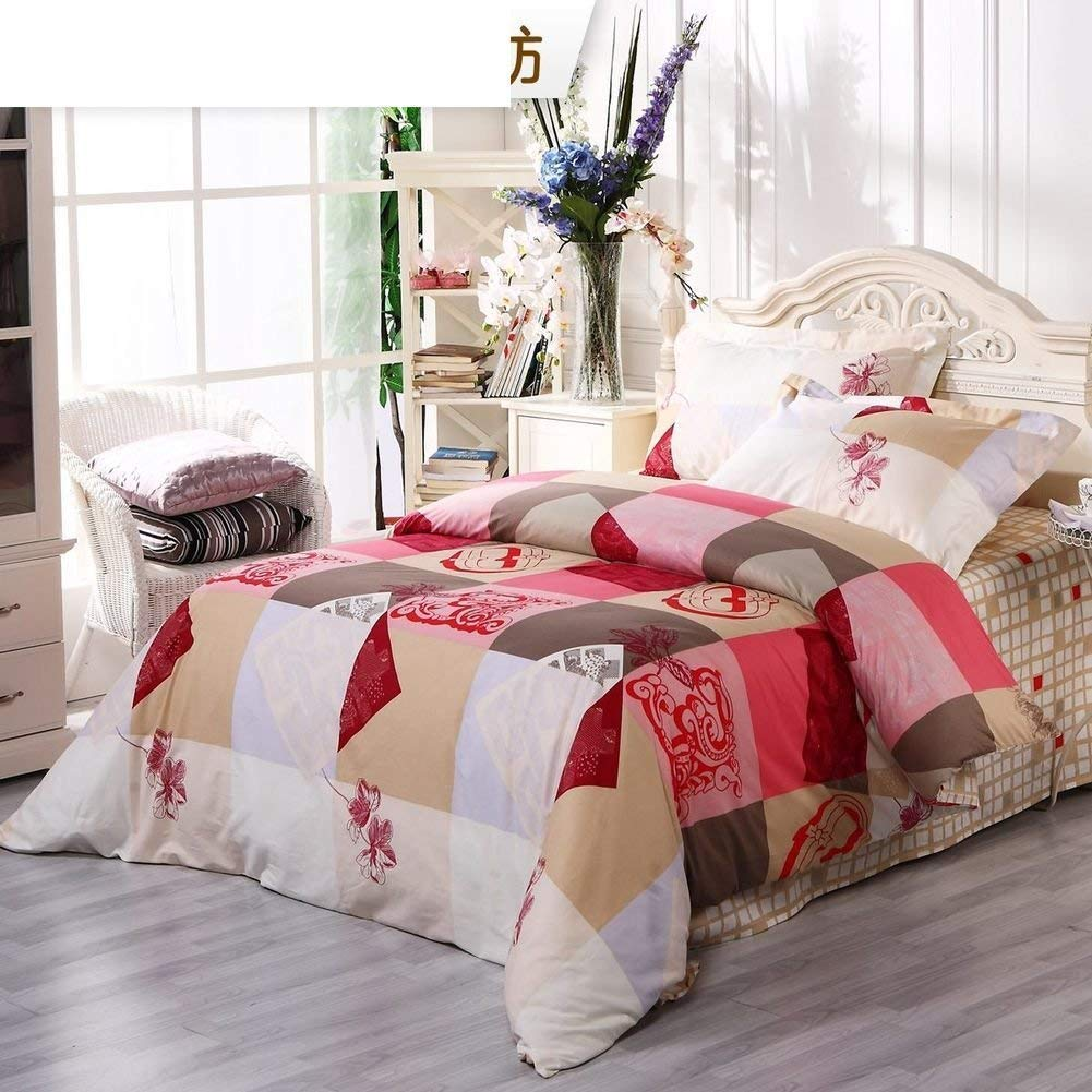 WCH ベッドライニング寝具セット、Cottonashedコットンフォーピースセット、コットンシンプル寝具 ホーム寝具セット (Color : Queen2, サイズ : A) B07PXPSLDL Queen2 A