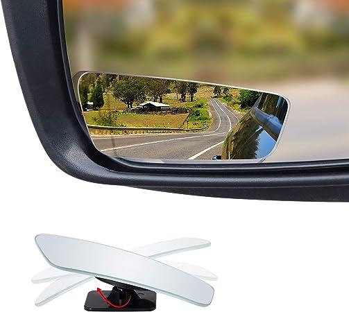 Espejo Universal Para Carro Rotación De 360 Grados Ajustable Sin Marco Punto AAA