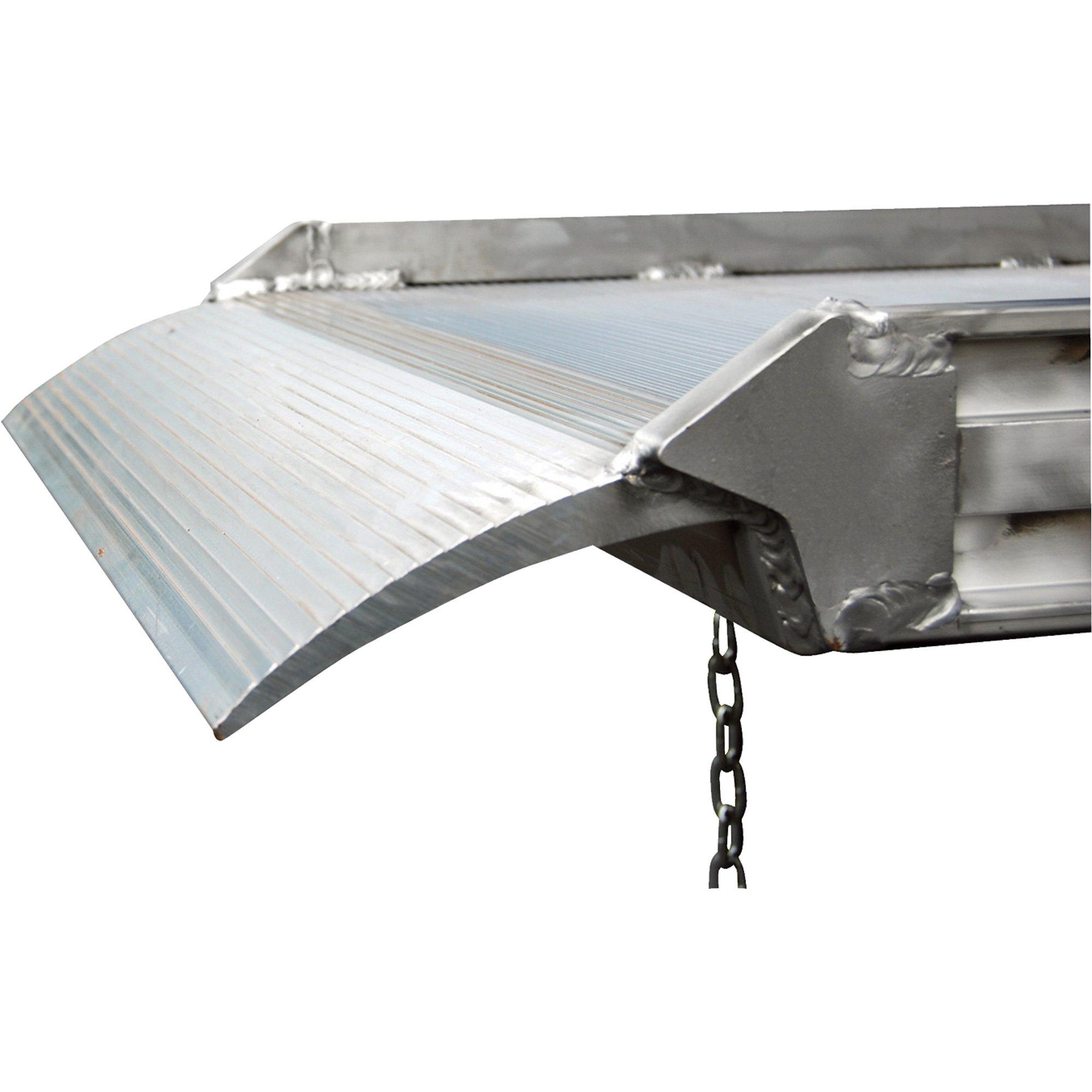 Vestil AWR-28-9A Aluminum Walk Ramp Overlap Style, 2500 lb., 108'' Length, 28'' Width, 4.75'' Height