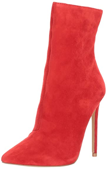 eb7f65bcb54f Steve Madden Women s Wagner Fashion Boot red Suede 5.5 ...
